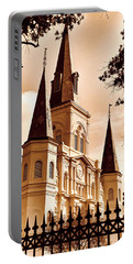 Sepia St. Louis Cathedral Portable Battery Charger