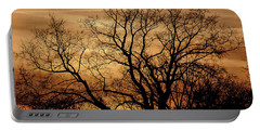 Sepia Sunset Portable Battery Charger by Michael Nowotny