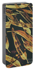 Sepia Toned Image Of Floating Eucalyptus Leaves Portable Battery Charger