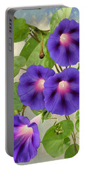 September Morning Glory Portable Battery Charger