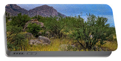 Portable Battery Charger featuring the photograph September Oasis No.2 by Mark Myhaver