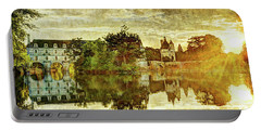September Sunset In Chenonceau - Vintage Version Portable Battery Charger