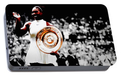 Serena 2016 Wimbledon Victory Portable Battery Charger by Brian Reaves