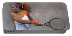 Serena Williams Artwork Portable Battery Charger