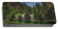 Serene Hanging Lake Waterfalls Portable Battery Charger