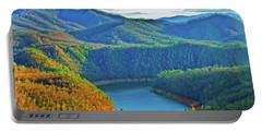 Serene Mountains And Lake Portable Battery Charger
