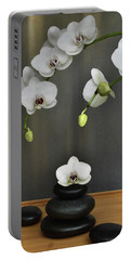 Serene Orchid Portable Battery Charger by Terence Davis