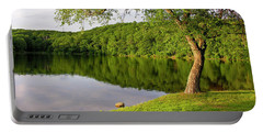 Serene Pond Scene Portable Battery Charger