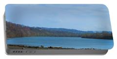 Serene River Landscape Portable Battery Charger