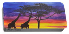 Serengeti Sunset Portable Battery Charger by Darren Robinson