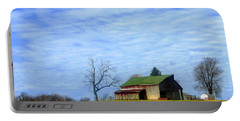 Serenity Barn And Blue Skies Portable Battery Charger by Tina M Wenger