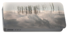 Serenity Dwells Here Where Tranquil Water Flow Cloaked  In Hues Of Love Portable Battery Charger