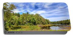Serenity On Bald Mountain Pond Portable Battery Charger