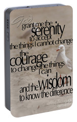 Portable Battery Charger featuring the photograph Serenity Prayer 01 by Vicki Ferrari