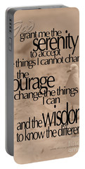 Serenity Prayer 04 Portable Battery Charger