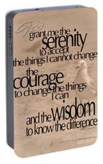 Portable Battery Charger featuring the photograph Serenity Prayer 04 by Vicki Ferrari