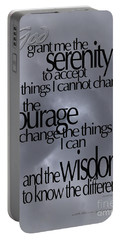 Serenity Prayer 05 Portable Battery Charger by Vicki Ferrari