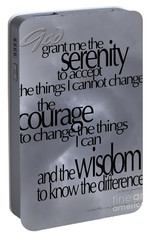 Portable Battery Charger featuring the photograph Serenity Prayer 05 by Vicki Ferrari