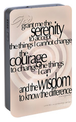 Portable Battery Charger featuring the photograph Serenity Prayer 06 by Vicki Ferrari
