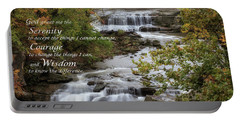 Portable Battery Charger featuring the photograph Serenity Prayer by Dale Kincaid