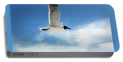 Serenity Seagull Portable Battery Charger by Marie Hicks