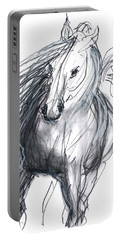 Portable Battery Charger featuring the mixed media Sergei by Carolyn Weltman