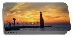 Portable Battery Charger featuring the photograph Serious Sunrise by Bill Pevlor