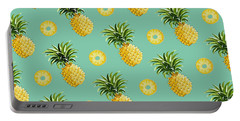 Set Of Pineapples Portable Battery Charger by Vitor Costa