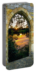 Portable Battery Charger featuring the photograph Setting Sun On Ireland's Shannon River by James Truett