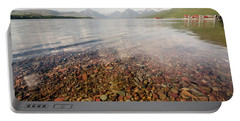 Setting Sun On Lake Mcdonald Portable Battery Charger