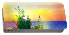 Pastel Colors On The Atlantic Ocean In Cancun Portable Battery Charger