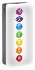 Seven Chakras Poster And Products Portable Battery Charger