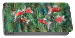 Seven Little Fishies Portable Battery Charger by Maria Watt