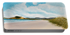 Portable Battery Charger featuring the painting Seven Mile Beach On A Calm, Sunny Day by Dorothy Darden
