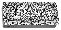 Seventeenth Century Parterre Pattern Design Portable Battery Charger