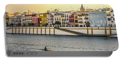 Seville - Sunset In Calle Betis Portable Battery Charger