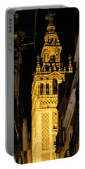 Seville - The Giralda At Night  Portable Battery Charger by Andrea Mazzocchetti