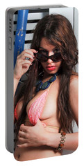 Sexy Latina Babe Portable Battery Charger