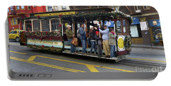 Sf Cable Car Powell And Mason Sts Portable Battery Charger by Steven Spak