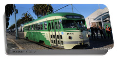 Sf Muni Railway Trolley Number 1006 Portable Battery Charger by Steven Spak