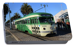 Portable Battery Charger featuring the photograph Sf Muni Railway Trolley Number 1006 by Steven Spak