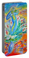 Shabbat Shalom Portable Battery Charger by Leon Zernitsky