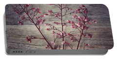 Shabby Chic Coral Bell Flowers Portable Battery Charger