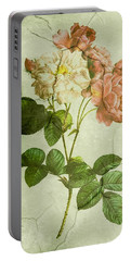 Shabby Chic Pink And White Peonies Portable Battery Charger