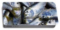 Portable Battery Charger featuring the painting Shad  by Phyllis Beiser