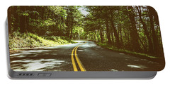 Shaded Winding Oregon Road  Portable Battery Charger