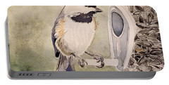 Shades Of Black Capped Chickadee Portable Battery Charger