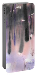 Portable Battery Charger featuring the painting Shades Of Forest by Yolanda Koh