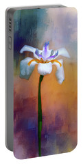 Portable Battery Charger featuring the photograph Shades Of Iris by Carolyn Marshall