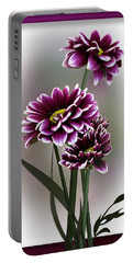 Portable Battery Charger featuring the photograph Shades Of Purple by Judy Johnson
